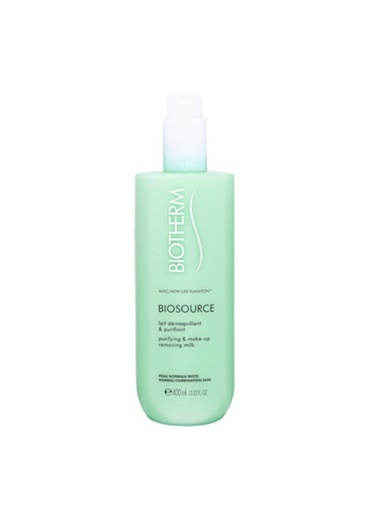 Biotherm Biosource Purifying & Make-Up Removing Milk 400 Ml Temizleme Sütü Renksiz